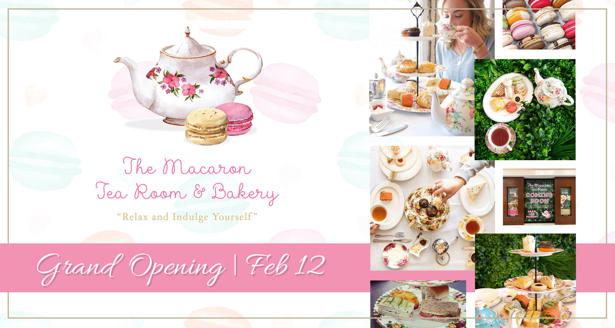 The Macaron Tea Room Grand Opening