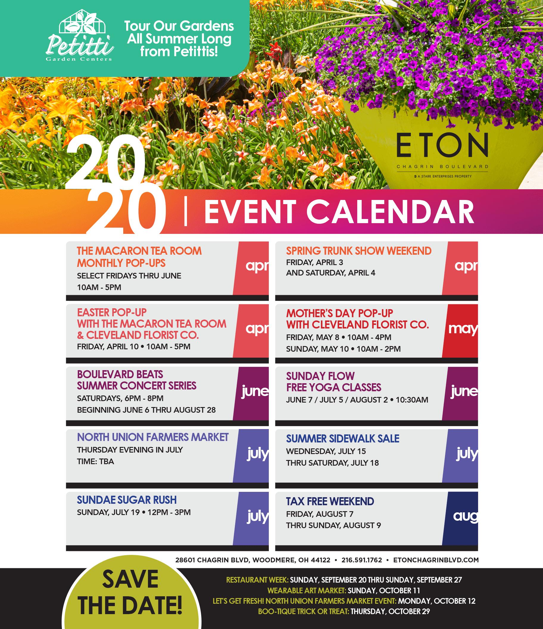 Event Calendar 2020