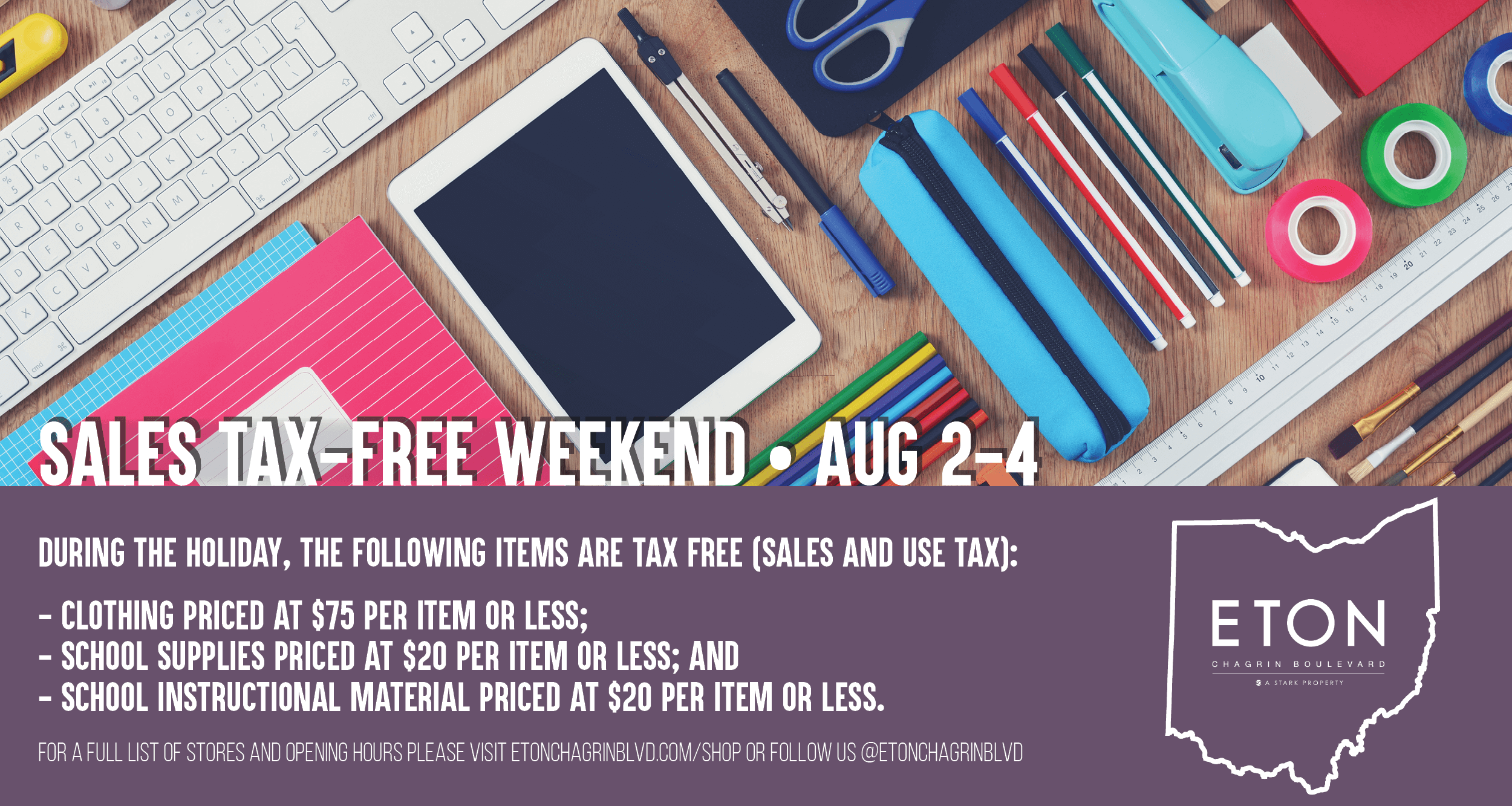 Ohio Tax Free Weekend