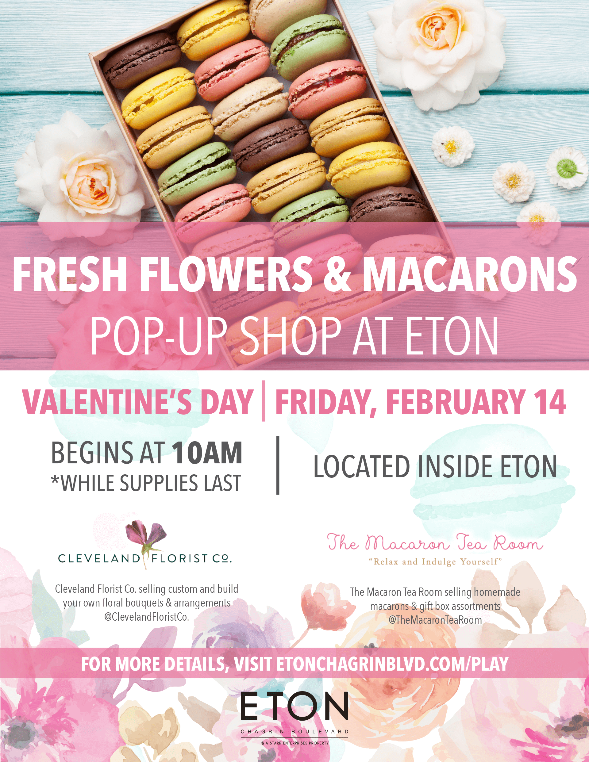 Fresh Flowers & Macarons Pop-Up