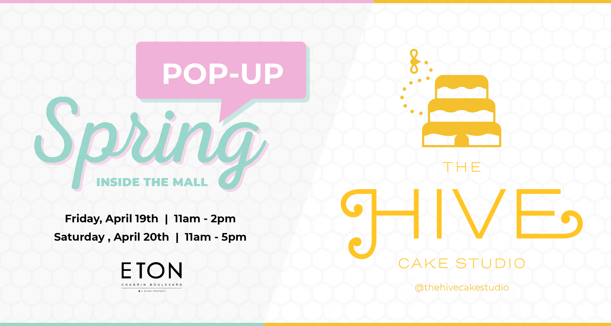 The Hive Cake Studio Pop-Up