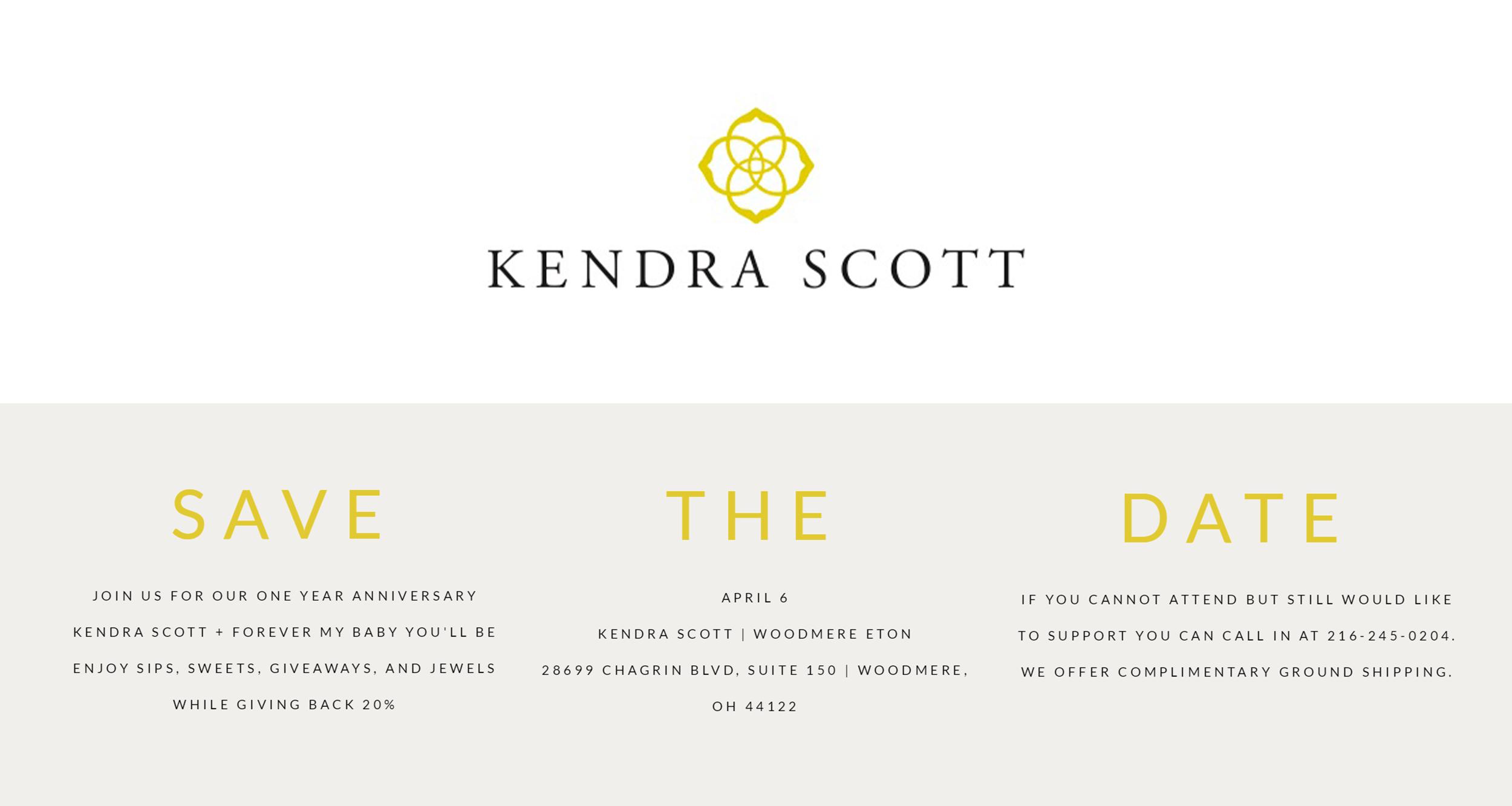 Kendra Scott Anniversary