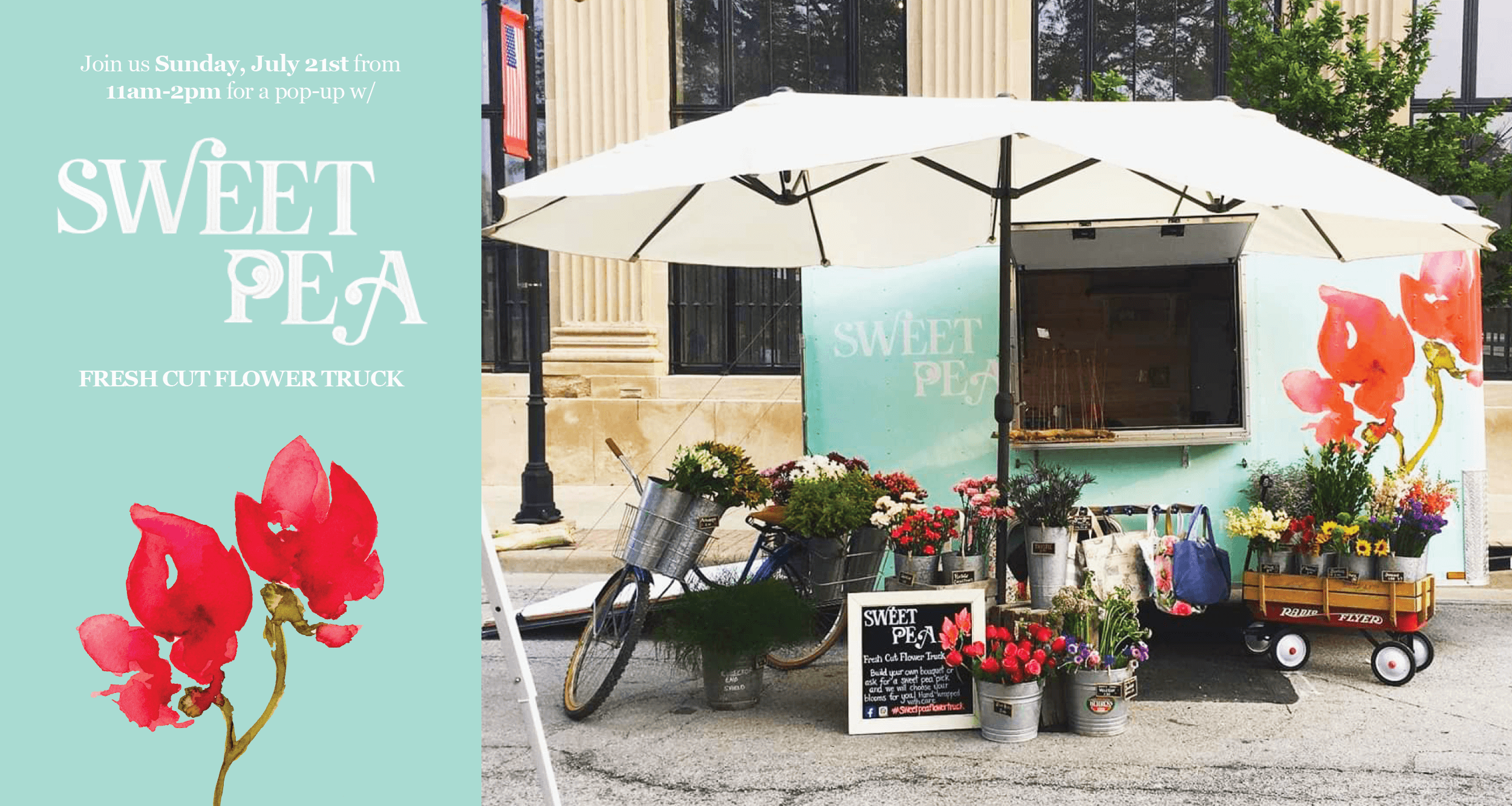 Sweet Pea Flower Truck Pop-Up